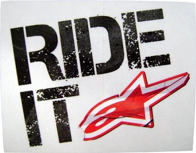 RIDE IT samolepa ALPINESTARS